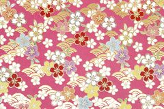 Traditional Japanese Pattern Origami Paper Royalty Free Stock Photography