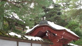 Traditional Japanese Red Roof Stock Photo