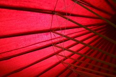 Traditional Japanese red umbrella royalty free stock photo
