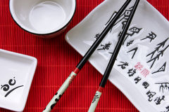 Traditional japanese restaurant utensil Stock Images