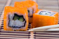 Traditional japanese rolls Stock Photos
