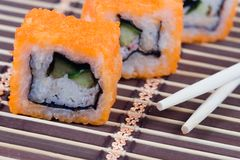 Traditional japanese rolls Stock Photography
