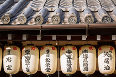 Traditional japanese roof of the temple in Kyoto Royalty Free Stock Photography