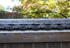 Traditional Japanese roof top Royalty Free Stock Photo