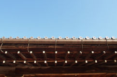 Traditional Japanese roof top Royalty Free Stock Photography