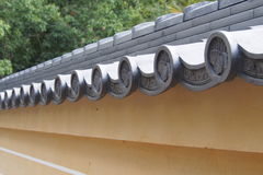 Traditional Japanese roof top Royalty Free Stock Photos
