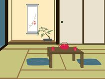 Traditional Japanese Room Stock Photography