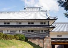 Traditional Japanese samurai castle in Kanazawa Royalty Free Stock Photos