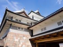 Traditional Japanese samurai castle in Kanazawa Royalty Free Stock Image