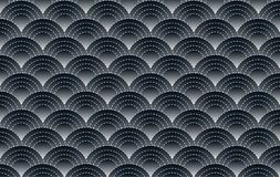 Japanese pattern and semi circle with black background royalty free illustration