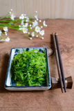 Traditional Japanese seaweed salad with chopsticks Stock Photography