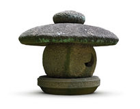 Traditional Japanese stone lantern Stock Photo