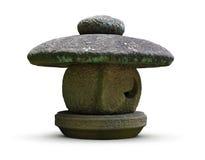 Traditional Japanese stone lantern. A traditional stone lantern, as seen in Japanese gardens and temples stock photo