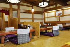 Traditional japanese style  interior restaurant  image Royalty Free Stock Images
