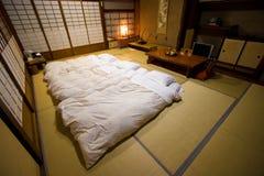 Traditional Japanese style room Ryokan. Beppu, Japan - April 4, 2008: Traditional Japanese style room Ryokan in Beppu, Japan Royalty Free Stock Image