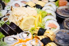 Traditional Japanese sushi Stock Photo