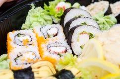 Traditional Japanese sushi Stock Photos