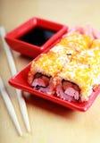 Traditional Japanese Sushi rolls Stock Photo