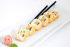 Traditional japanese sushi rolls Royalty Free Stock Image