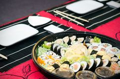 Traditional Japanese sushi Royalty Free Stock Images