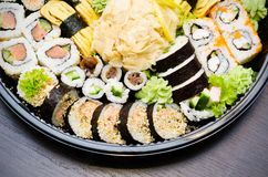 Traditional Japanese sushi Royalty Free Stock Photos