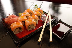 Traditional Japanese Sushi Royalty Free Stock Photography