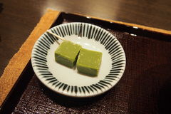 Traditional Japanese sweetmeat Stock Images