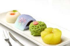Traditional Japanese sweets Stock Photography