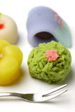 Traditional Japanese sweets Stock Images