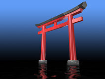Traditional Japanese Symbols of faith Royalty Free Stock Photo