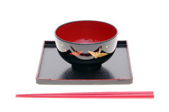 Traditional japanese tableware Stock Images