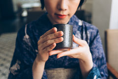 Traditional Japanese tea Stock Photography