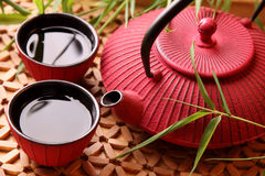Traditional Japanese teapot Stock Photos