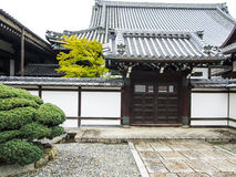 Traditional Japanese temple building Royalty Free Stock Photography