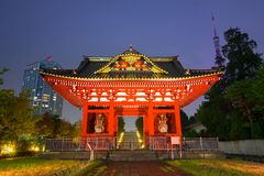 Traditional japanese temple in Tokyo. Traditional japanese temple in the city center of Tokyo Royalty Free Stock Photo
