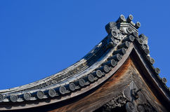 Traditional Japanese temple roof Stock Image