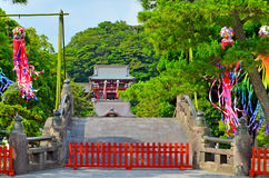 Traditional Japanese temple, Tokyo. Stock Images