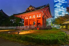Traditional japanese temple. In the city center of Tokyo Royalty Free Stock Images