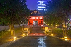Traditional japanese temple. In the city center of Tokyo Stock Images
