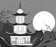 Traditional Japanese Temple Vector Royalty Free Stock Photos