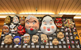 Traditional japanese theater masks Royalty Free Stock Images