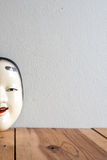 Traditional japanese theater masks made of iron Royalty Free Stock Image