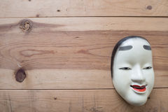 Traditional japanese theater masks made of iron Stock Photos