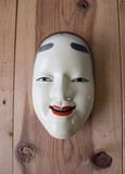 Traditional japanese theater masks made of iron Royalty Free Stock Photos