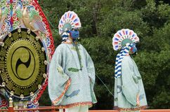 Traditional Japanese theater. With shinto themes Stock Photography