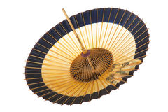 Traditional Japanese umbrella of bamboo and paper. Stock Photo