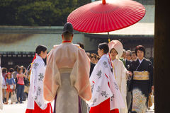 Traditional Japanese wedding ceremony Royalty Free Stock Images