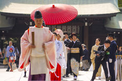Traditional Japanese wedding ceremony Stock Photography