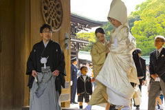 Traditional Japanese wedding ceremony Royalty Free Stock Photography
