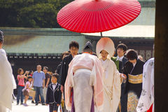 Traditional Japanese wedding ceremony Stock Image